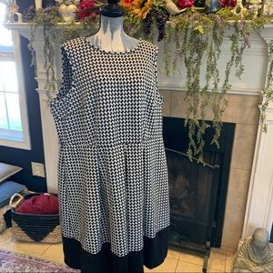 Calvin Klein plus size Hounds tooth dress